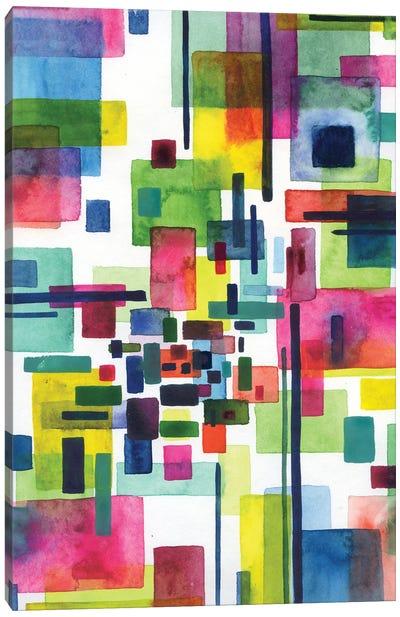 Abstract City Canvas Art Print