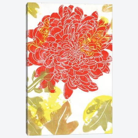 Red Dahlia: Printmaking Canvas Print #AKS152} by Andrea Kosar Canvas Artwork