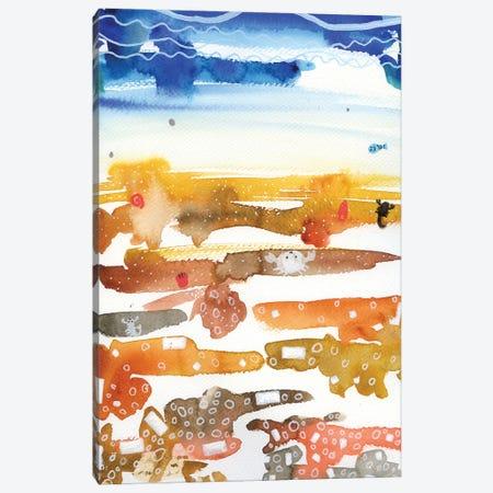 Seaside Canvas Print #AKS157} by Andrea Kosar Art Print