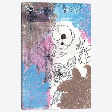 Roses: Botanical Study Canvas Print #AKS158} by Andrea Kosar Canvas Wall Art