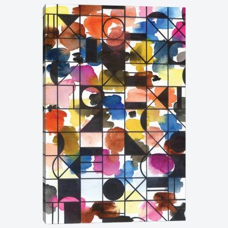 Signs: Circles And More Canvas Print #AKS162} by Andrea Kosar Art Print