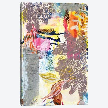 Silver Dahlias In Abstract II Canvas Print #AKS170} by Andrea Kosar Canvas Wall Art