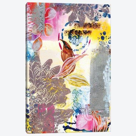 Silver Dahlias In Abstract I Canvas Print #AKS171} by Andrea Kosar Canvas Art