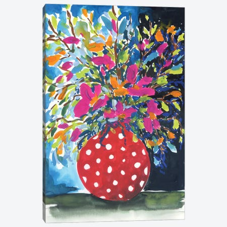 Stillife: Red And White Canvas Print #AKS173} by Andrea Kosar Canvas Wall Art