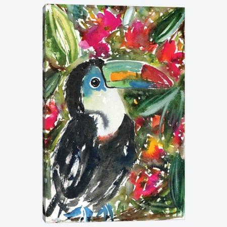 Tucan In The Jungle Canvas Print #AKS182} by Andrea Kosar Art Print