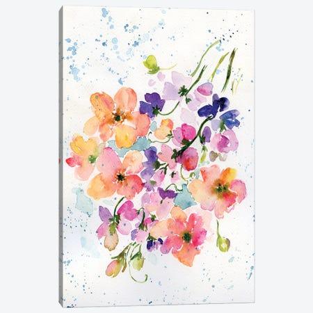 Vintage Flowers Canvas Print #AKS187} by Andrea Kosar Canvas Artwork