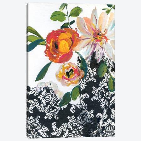 Vintage Flowers With Dahlias III Canvas Print #AKS188} by Andrea Kosar Canvas Print