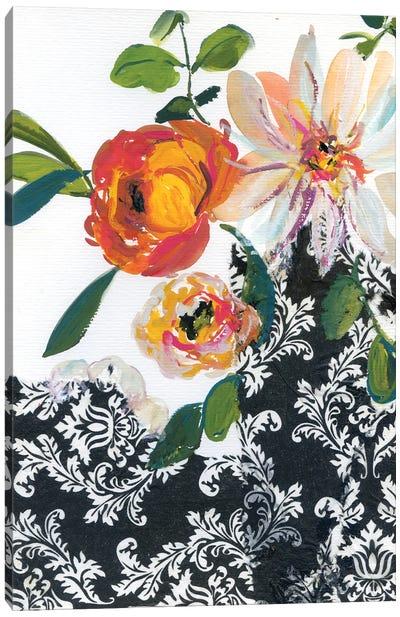 Vintage Flowers With Dahlias III Canvas Art Print