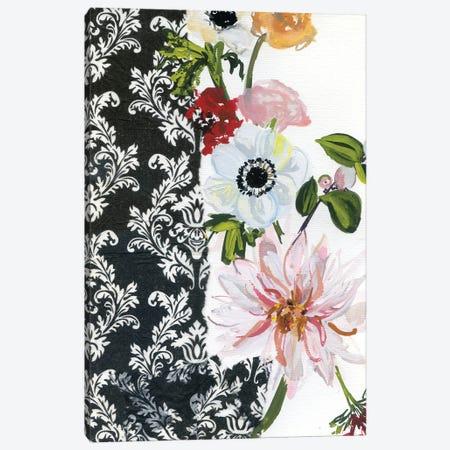 Vintage Flowers With Dahlias I Canvas Print #AKS189} by Andrea Kosar Art Print