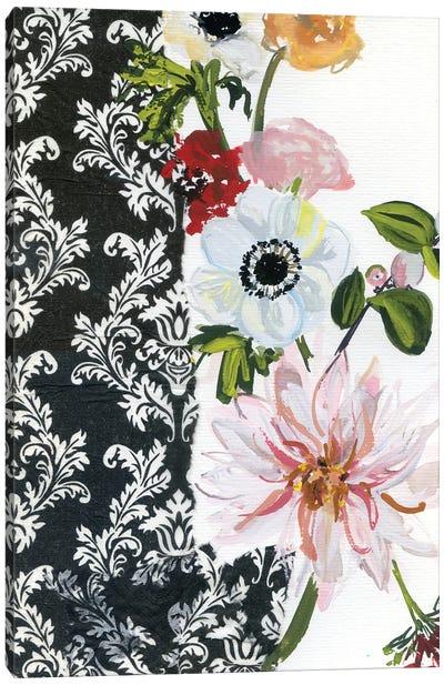 Vintage Flowers With Dahlias I Canvas Art Print