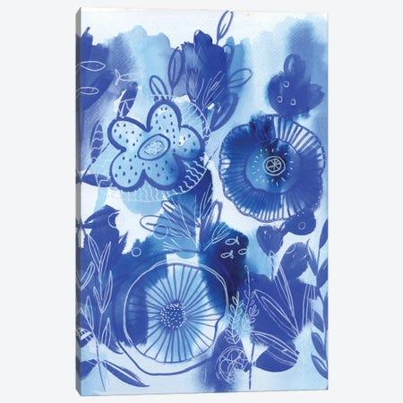 Waterworld: Blue Version Canvas Print #AKS192} by Andrea Kosar Canvas Art