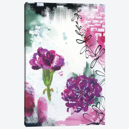Abstract Carnations I Canvas Print #AKS1} by Andrea Kosar Art Print