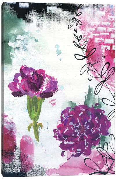 Abstract Carnations I Canvas Art Print