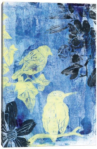 Birds In The Night Canvas Art Print