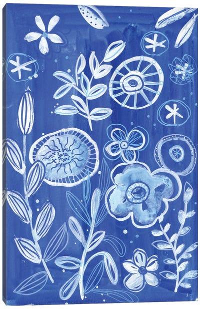 Blue And White Waterworld Canvas Art Print