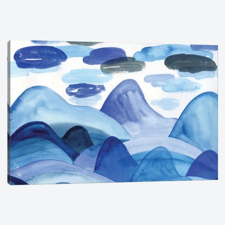 Blue Landscape: Mountains Canvas Print #AKS28} by Andrea Kosar Canvas Art Print