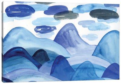 Blue Landscape: Mountains Canvas Art Print