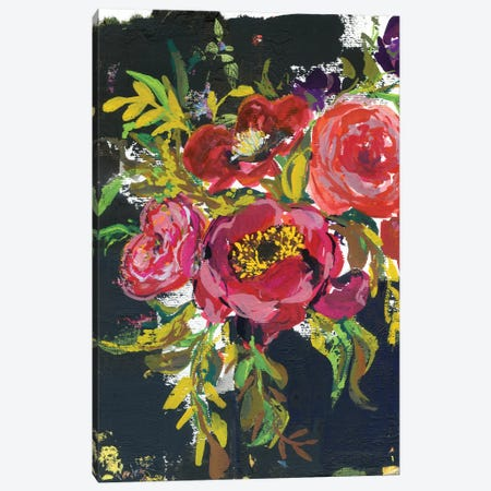Abstract Bouquet In Black Canvas Print #AKS2} by Andrea Kosar Art Print