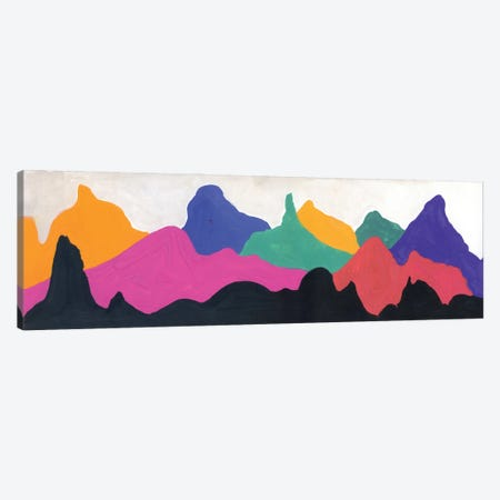 Colorful Mountains: Orange, Pink, Blue, Green Canvas Print #AKS43} by Andrea Kosar Canvas Art Print
