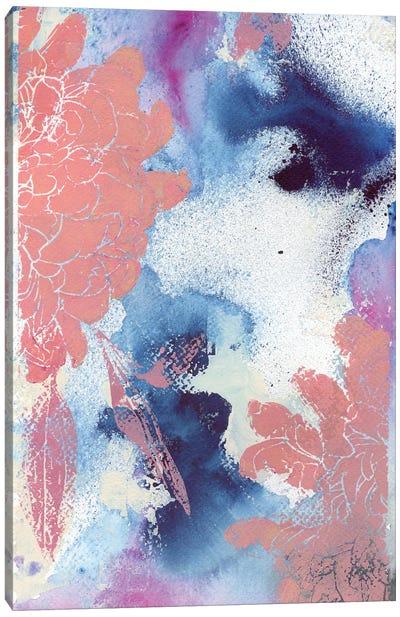 Cloudy Dahlias II Canvas Art Print