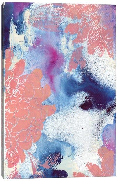 Cloudy Dahlias I Canvas Art Print