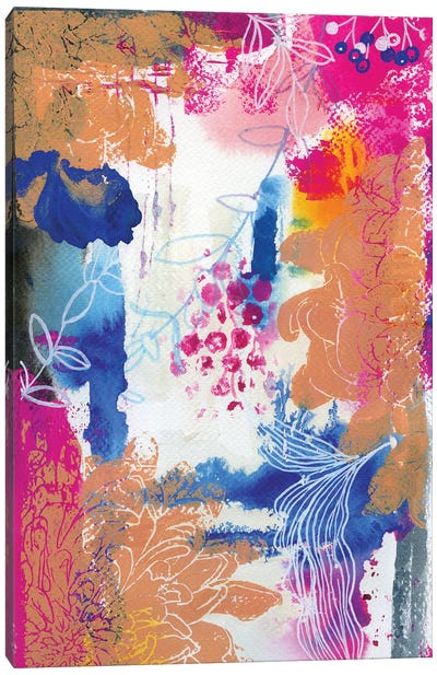 Copper Dahlia In Abstract I Canvas Art Print