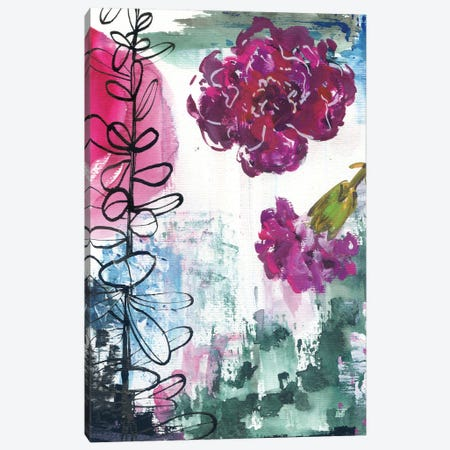 Abstract Carnations II Canvas Print #AKS6} by Andrea Kosar Canvas Art
