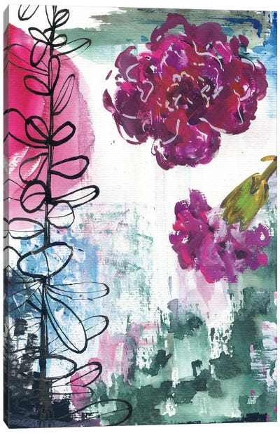 Abstract Carnations II Canvas Art Print