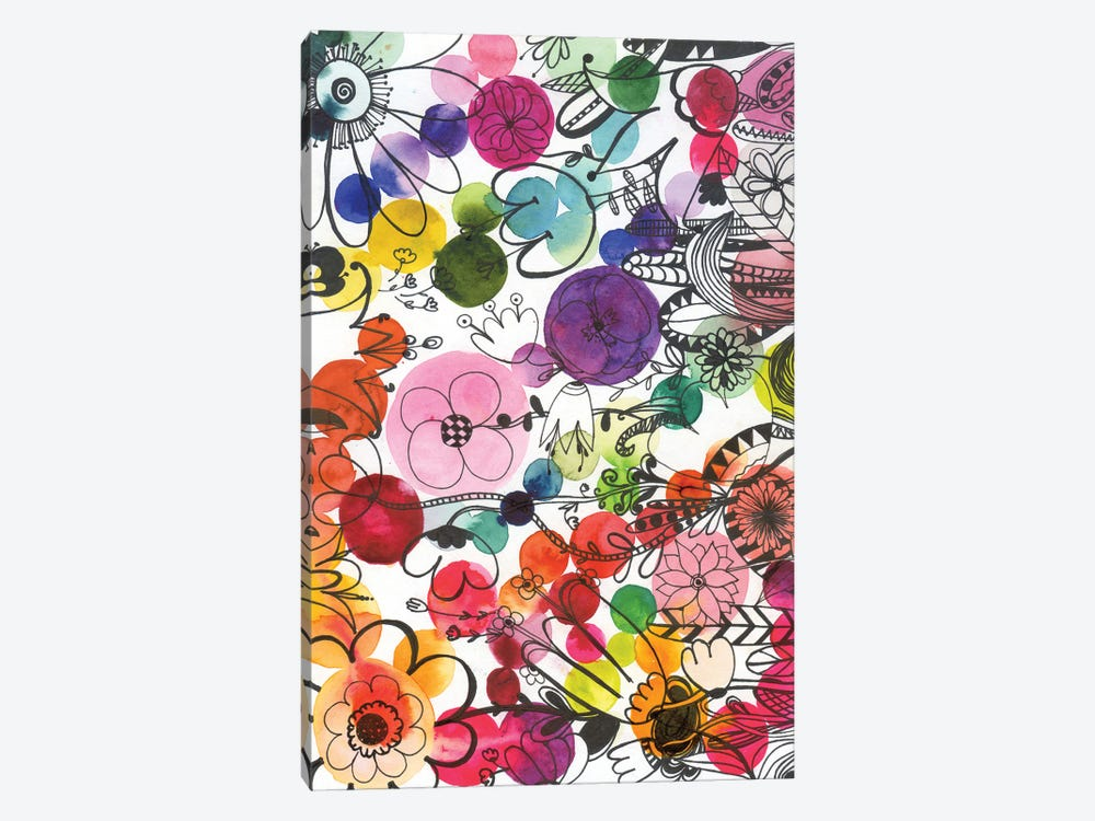Fairy Ink Flowers by Andrea Kosar 1-piece Canvas Artwork
