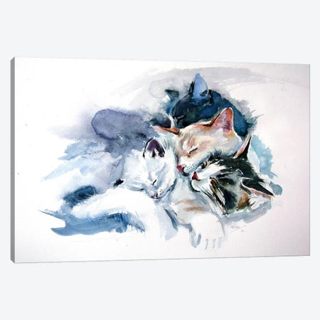 Sleeping Cats Canvas Print #AKV102} by Anna Brigitta Kovacs Canvas Print