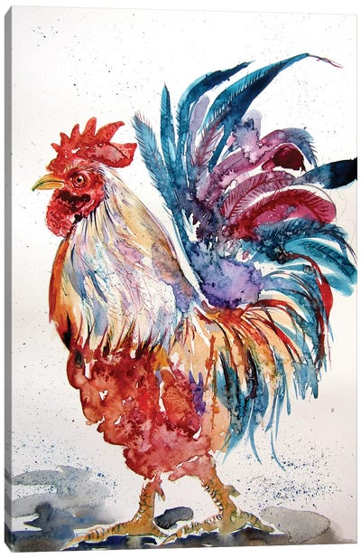 Rooster In The Yard II Canvas Art Print
