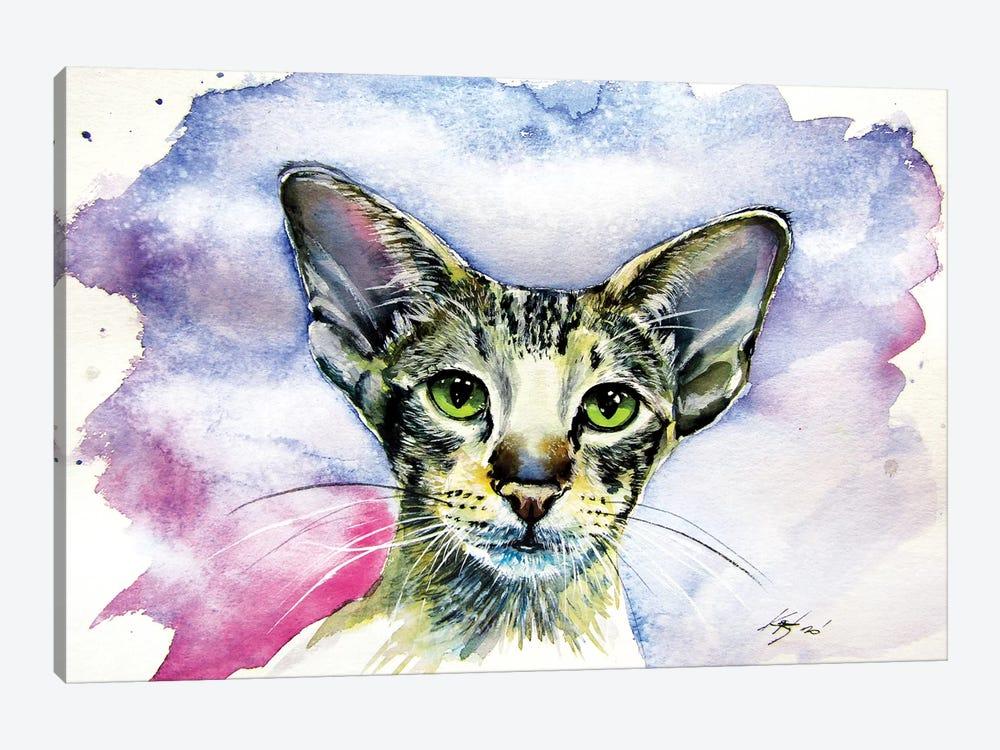 Cute Cat/Siamese Oriental Cat by Anna Brigitta Kovacs 1-piece Canvas Art