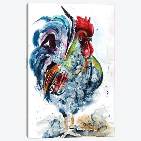 Proud Rooster Canvas Print #AKV114} by Anna Brigitta Kovacs Art Print