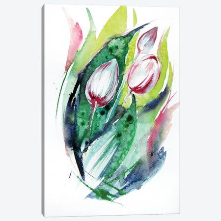 Tulips Canvas Print #AKV116} by Anna Brigitta Kovacs Canvas Art Print