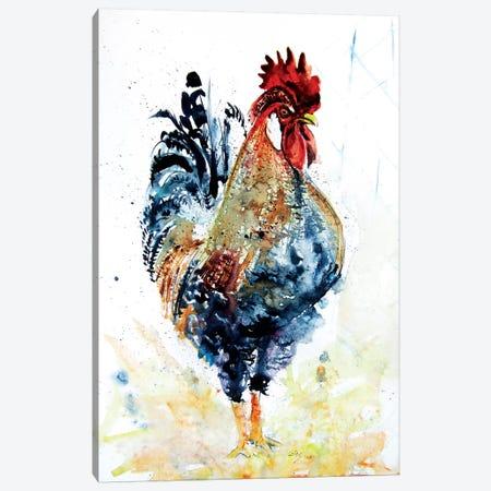 Rooster In The Yard VI Canvas Print #AKV121} by Anna Brigitta Kovacs Canvas Art Print