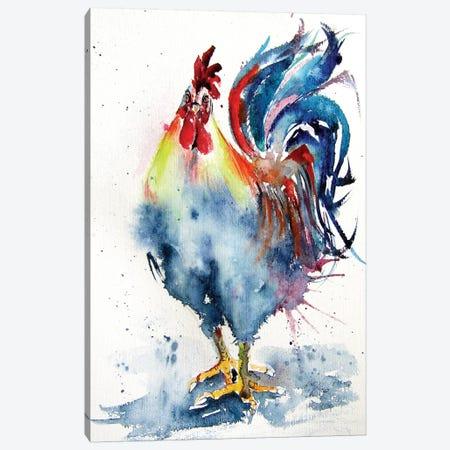 Rooster In The Yard IV Canvas Print #AKV122} by Anna Brigitta Kovacs Art Print