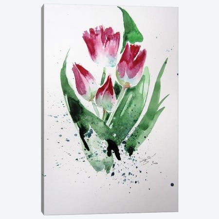 Little Tulips Canvas Print #AKV129} by Anna Brigitta Kovacs Canvas Print