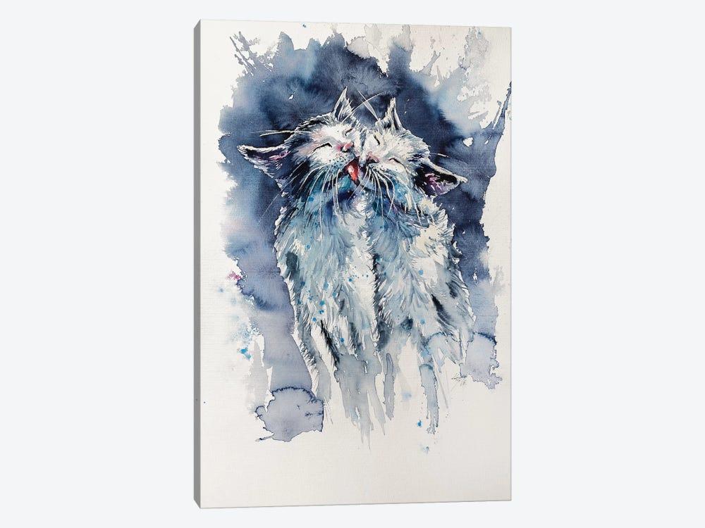 Cats by Anna Brigitta Kovacs 1-piece Canvas Artwork
