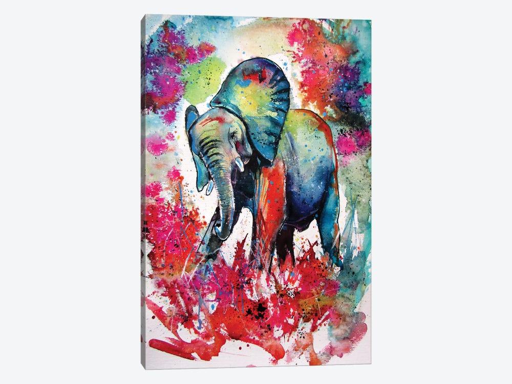 Happy Elephant II by Anna Brigitta Kovacs 1-piece Canvas Art Print