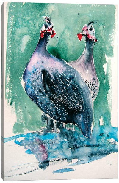 Guinea Fowl Canvas Art Print