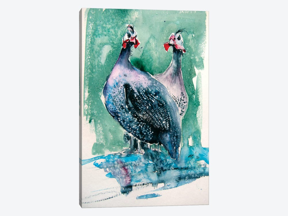 Guinea Fowl by Anna Brigitta Kovacs 1-piece Art Print