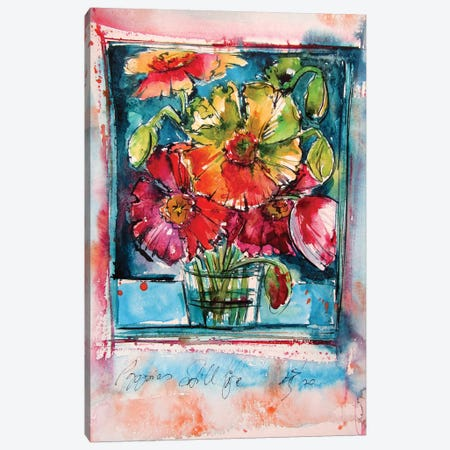 Still Life Poppies II Canvas Print #AKV145} by Anna Brigitta Kovacs Canvas Wall Art
