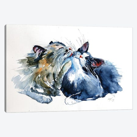 Cats Canvas Print #AKV14} by Anna Brigitta Kovacs Canvas Art