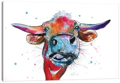 Cute Cow Canvas Art Print