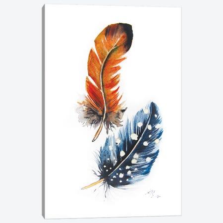 Feathers II Canvas Print #AKV161} by Anna Brigitta Kovacs Canvas Print