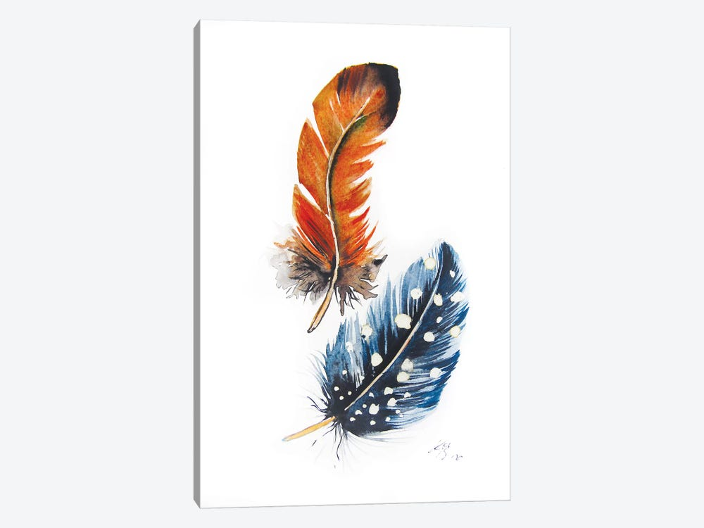 Feathers II by Anna Brigitta Kovacs 1-piece Canvas Wall Art