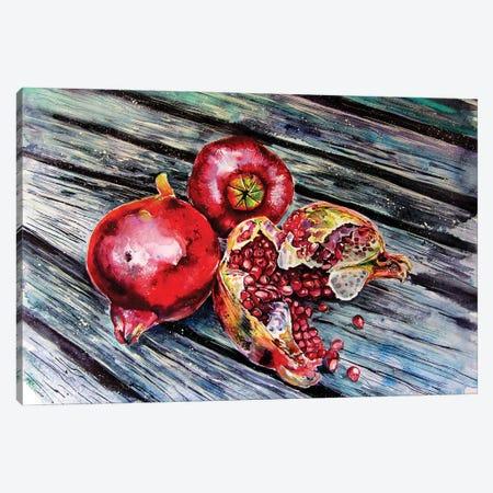 Pomegranate Still Life Canvas Print #AKV163} by Anna Brigitta Kovacs Art Print