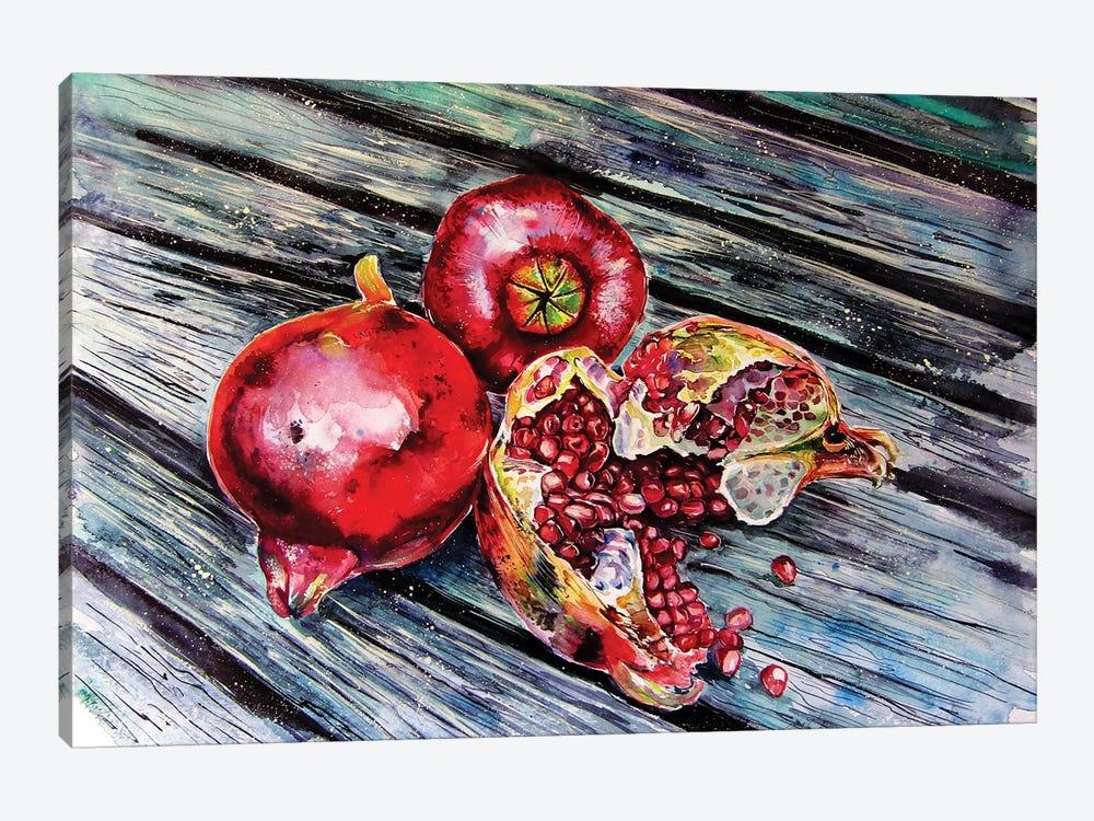 Pomegranate Still Life by Anna Brigitta Kovacs 1-piece Canvas Artwork