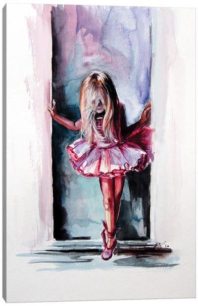 Little Ballerina Canvas Art Print