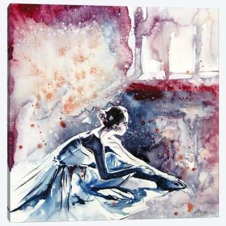 Resting Ballerina Canvas Print #AKV166} by Anna Brigitta Kovacs Canvas Wall Art